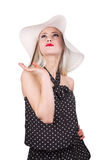 Attractive woman with hat Royalty Free Stock Photo