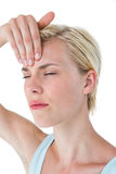 Attractive woman having headache Royalty Free Stock Photo