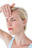 Attractive woman having headache Royalty Free Stock Photo