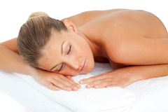 Attractive woman having relaxation Royalty Free Stock Photography