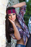 Attractive woman with headband Stock Photography