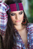 Attractive woman with headband Royalty Free Stock Images