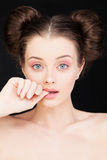 Attractive Woman with Healthy Skin Royalty Free Stock Photos