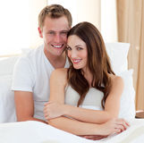 Attractive woman and her boyfriend Royalty Free Stock Images