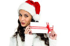 Attractive woman holding gift box Royalty Free Stock Photography