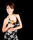 Attractive Woman Holding a Martini Stock Photos