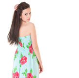 Attractive Woman In Summer Dress Stock Photos