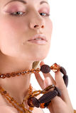 Attractive woman with jewellery Stock Photo