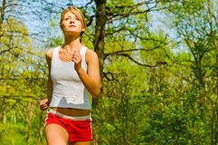 Attractive Woman Jogging Royalty Free Stock Photo