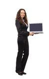 Attractive woman with laptop Stock Photos