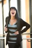 Attractive Woman Laughing Royalty Free Stock Photo