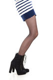 Attractive woman legs in boots Royalty Free Stock Photography