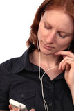 Attractive Woman Listening to Music Royalty Free Stock Image
