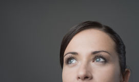 Attractive woman looking away royalty free stock photography