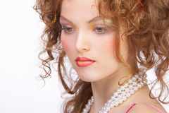 Attractive woman make up. royalty free stock images