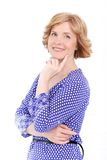 Attractive woman in middle age Royalty Free Stock Images