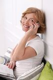 Attractive woman in middle age Royalty Free Stock Photos