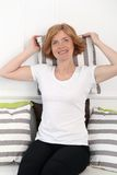 Attractive woman in middle age Stock Photography