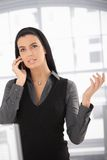 Attractive woman on mobile call Royalty Free Stock Photography