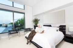 Woman in bedroom Royalty Free Stock Photography