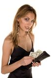 Attractive Woman and money Royalty Free Stock Photos