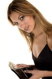 Attractive Woman and money Royalty Free Stock Photography