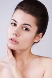 Attractive woman with natural make-up Stock Photography