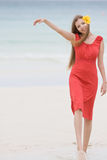 Attractive Woman On Beach Royalty Free Stock Photography