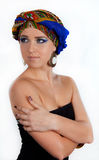 Attractive woman in  oriental turban Stock Image