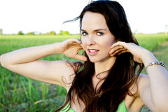 Attractive Woman Outdoors Royalty Free Stock Image