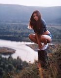 Attractive woman outdoors Royalty Free Stock Images