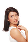 Attractive Woman Over White Background Stock Photo