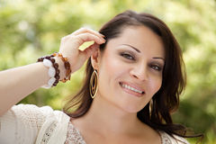 Attractive Woman in the Park Stock Photography