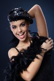 Attractive woman in party outfit Royalty Free Stock Images