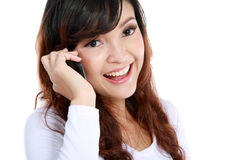 Attractive woman on the phone Stock Photos
