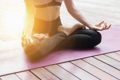 Attractive woman Playing yoga Stock Image