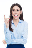 Attractive woman pointing Royalty Free Stock Photography