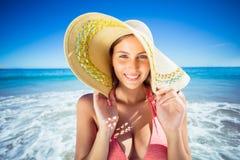 Attractive woman posing on beach Stock Photo