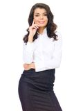 Attractive Woman Posing in Corporate Attire Stock Photography