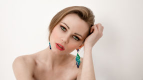 Attractive woman posing Stock Images