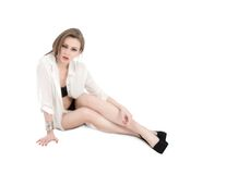 Attractive woman posing Royalty Free Stock Photography