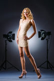 Attractive woman posing in studio Royalty Free Stock Photos