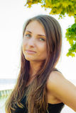 Attractive woman posing on sunny day Royalty Free Stock Photos