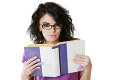 Attractive woman reading book Stock Images