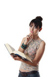 Attractive woman reading a book Royalty Free Stock Photo