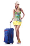 Attractive woman ready for summer vacation Stock Photography