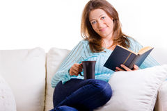 Attractive Woman Relaxing Royalty Free Stock Photos