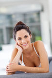 Attractive woman relaxing Stock Images