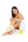 Attractive Woman Relaxing Spa royalty free stock photos
