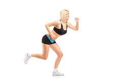 An attractive woman running Stock Image